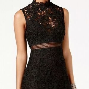 NEW BARDOT Black Paris Lace Dress. 10L